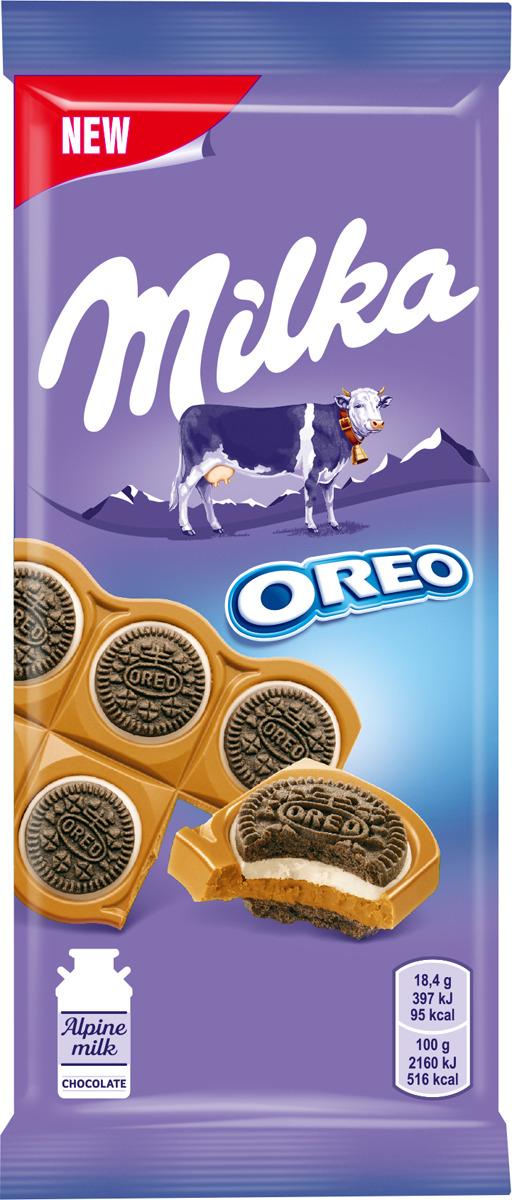 Шоколад молочный  Milka  с круглым печеньем Орео