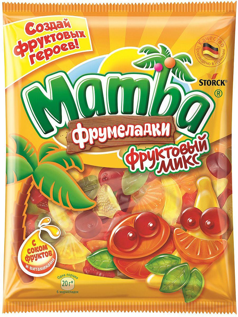Жевательный мармелад  Мамба  фруктовый микс 140гр.
