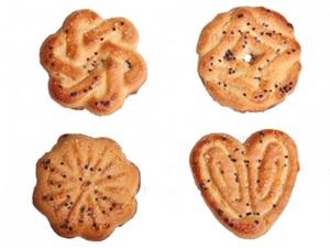 Печенье сахарное  Обояшки  декорированные маком 4кг.