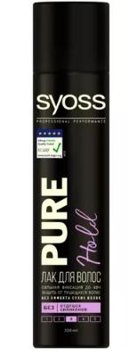 Лак для волос  Syoss  Pure Hold №4 экстрасильная фиксация 300мл.