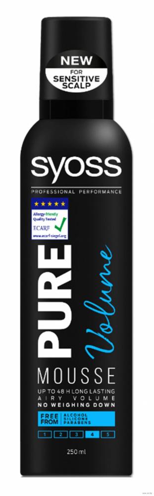 Мусс для укладки волос  Pure Volume  экстрасильной фиксаций 250мл.