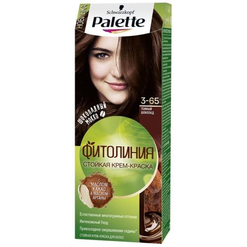 Крем-краска для волос  Palette  Фитолиния 3-65 Темный 50мл.