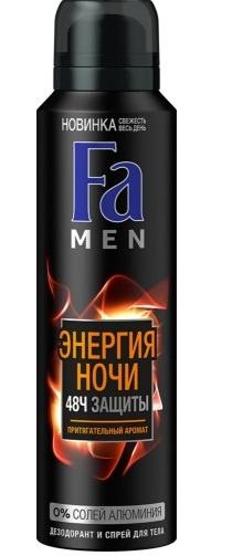 Дезодорант  Fa  men энергия ночи 150мл.