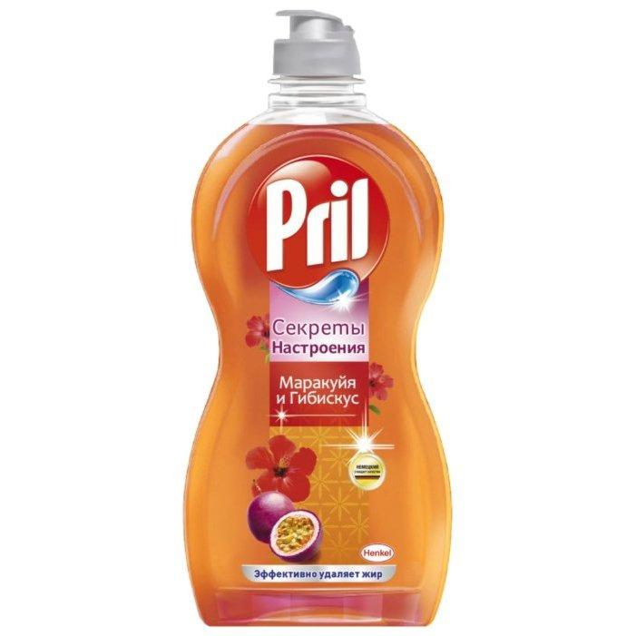Средство для мытья посуды  Pril  секрет настоящего маракуйа и гибискуса 450мл.
