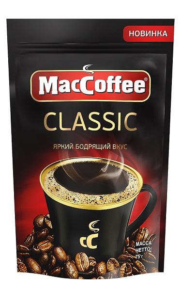 Кофе гранулированный растворимый  MacCoffee Classic  75гр.