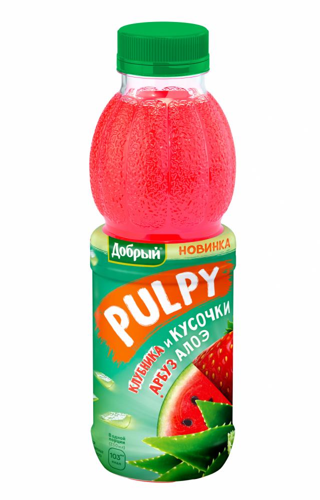 Нектар  Добрый  SQ Pulpy клубника/алоэ/арбуз 450мл.
