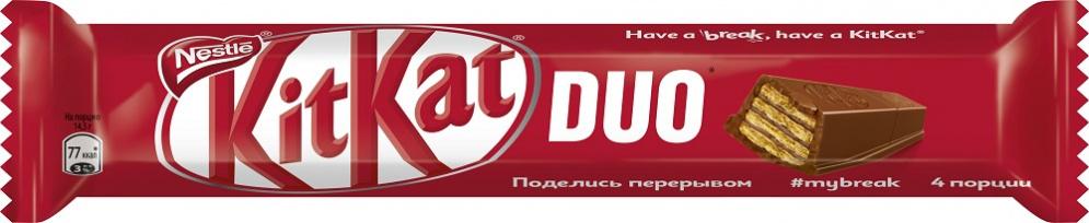 Шоколад  Кит-Кат  Duo с хрустящей вафлей 58гр.