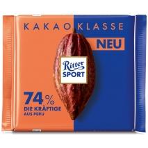 Шоколад  Риттер Спорт  темный Extra cocoa 74% 100гр.