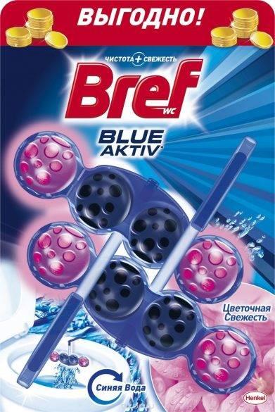 Туалетные блоки  Bref  Color Activ цветочная свежесть 2*50гр.