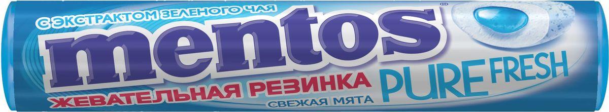 Жевательная резинка  Mentos  Pure Fresh Свежая мята 15.5гр.