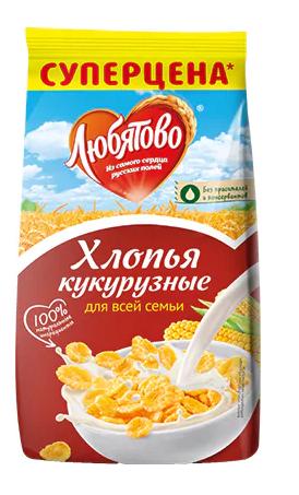 Хлопья кукурузные  Любятово  300гр.