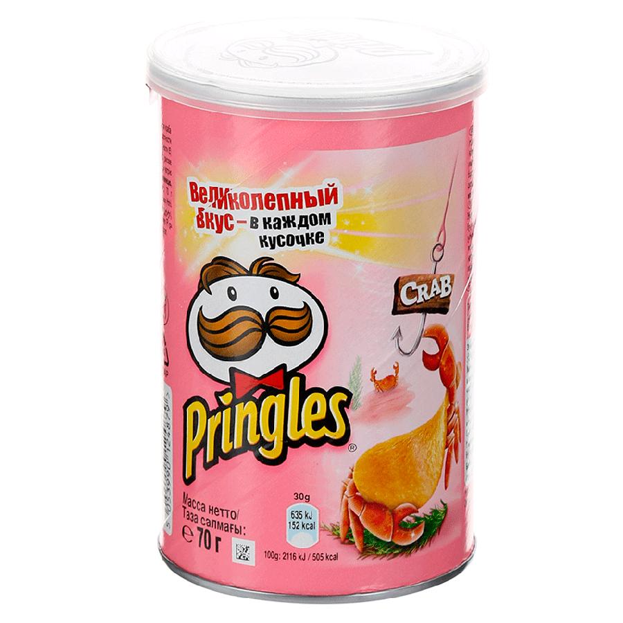 Чипсы картофельные  Pringles  со вкусом краба 165гр.