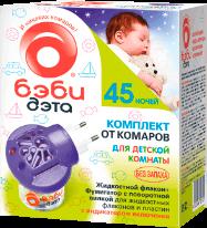 Детский комплект  Дэта  INSECTO БЭБИ (фумигатор + жидкость 45ночей 30мл)