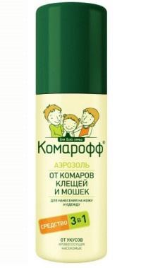 Аэрозоль  Комарофф  3 в 1 от комаров