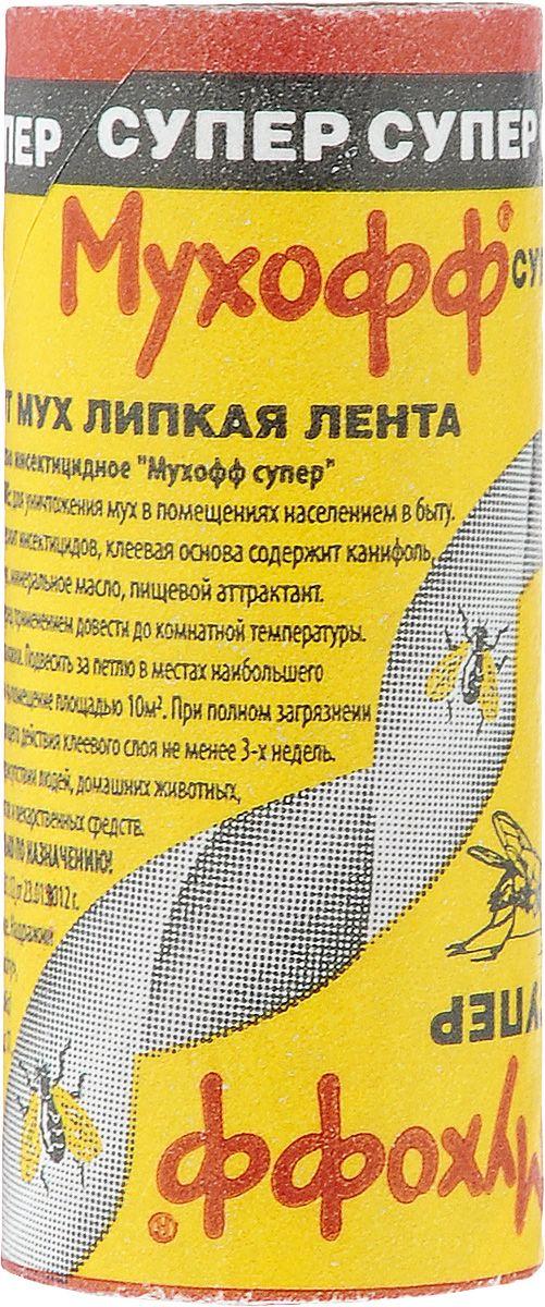 МУХОФФ  оффлайн супер липкая лента от мух (100 лент в шоубоксе)