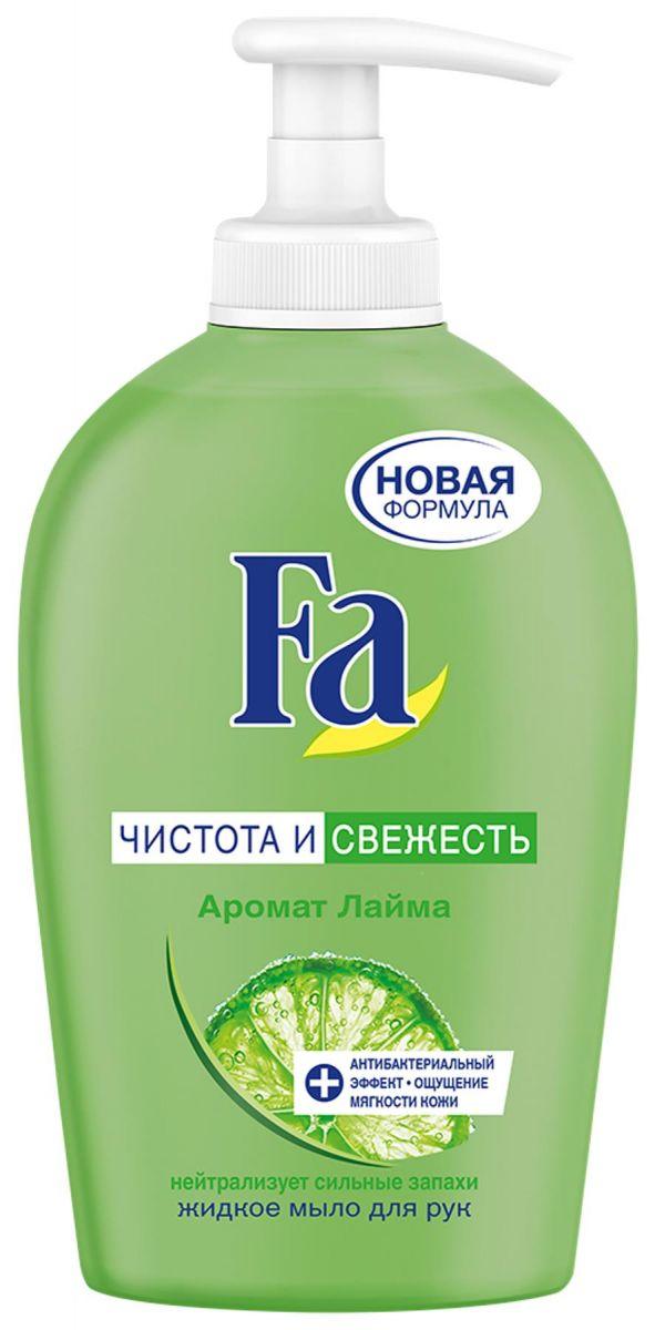 Жидкое мыло  Fa  чистота и свежесть аромат лайма 250мл.