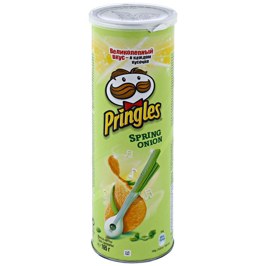 Чипсы картофельные  Pringles  зеленый лук 165гр.