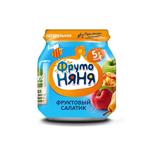 Пюре  Фруктовый салатик  100гр.