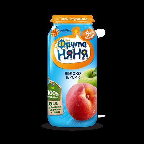 Пюре из яблок и персиков 250гр.