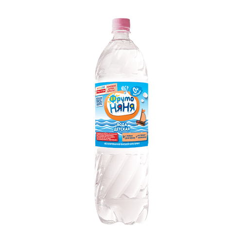 Детская вода  ФрутоНяня  высшей категории 1.5л.