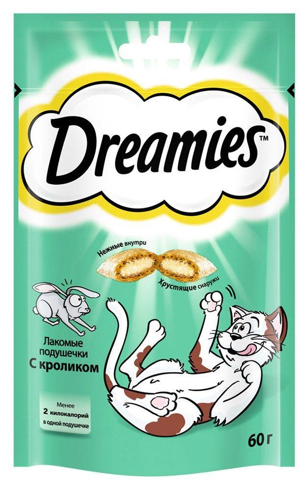 Лакомство для кошек  Dreamies  подушечки с кроликом 60гр.