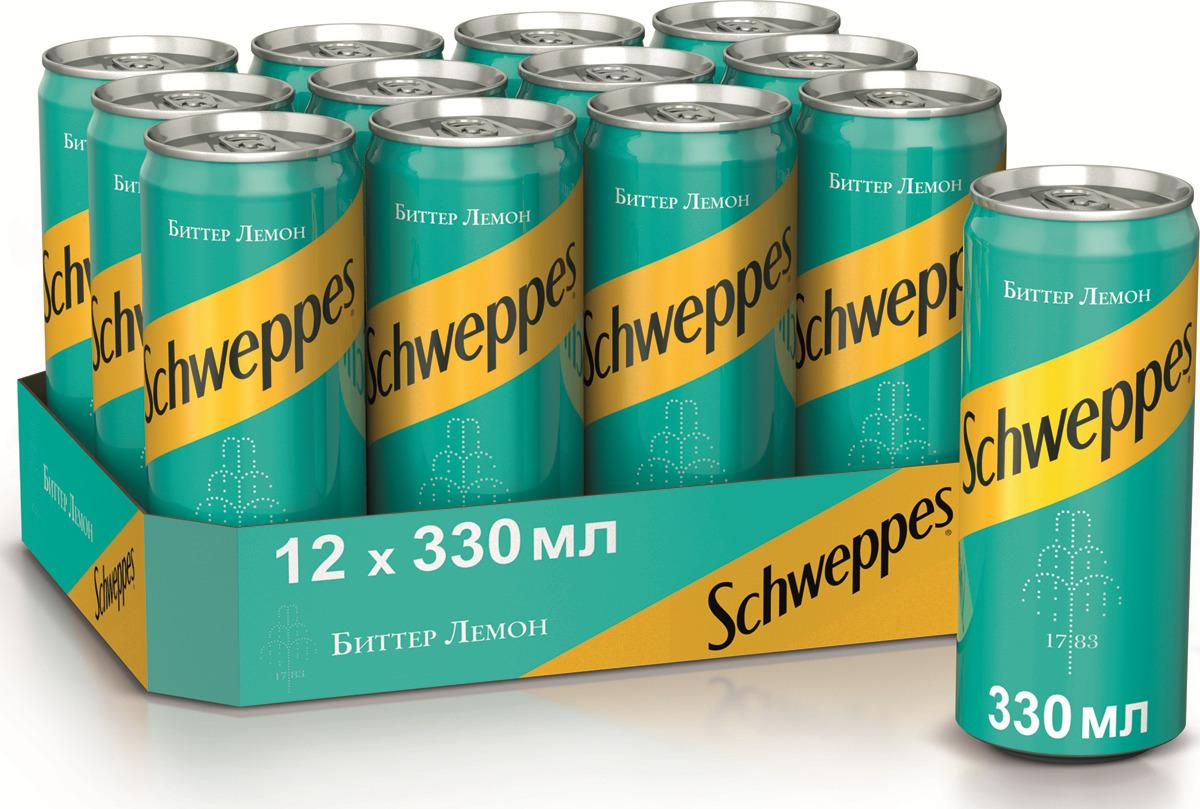 Газированный напиток  Schweppes  Lemon 0.33л.