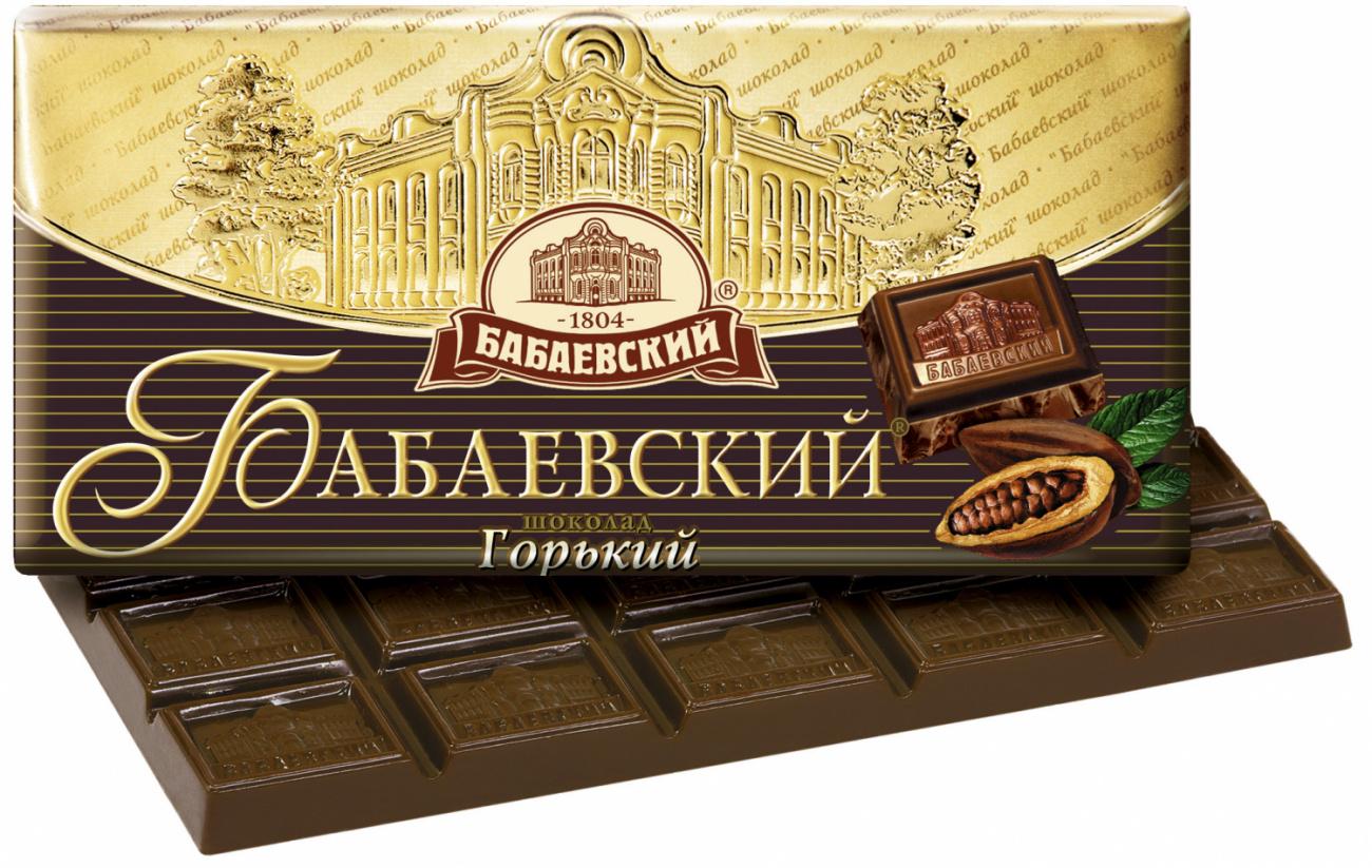 Шоколад  Бабаевский  горький 100гр.