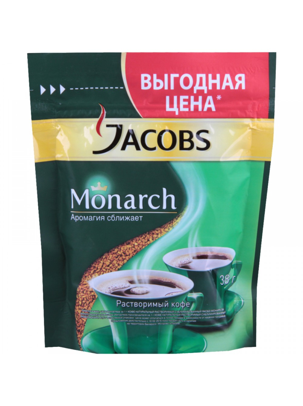Кофе растворимый  Якобс  Монарх 38гр.