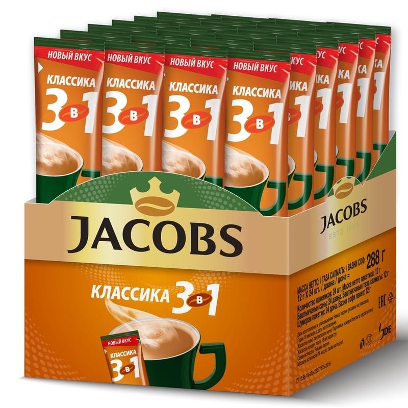 Кофе  Якобс  Монарх 3в1 классика стик 1.8гр.