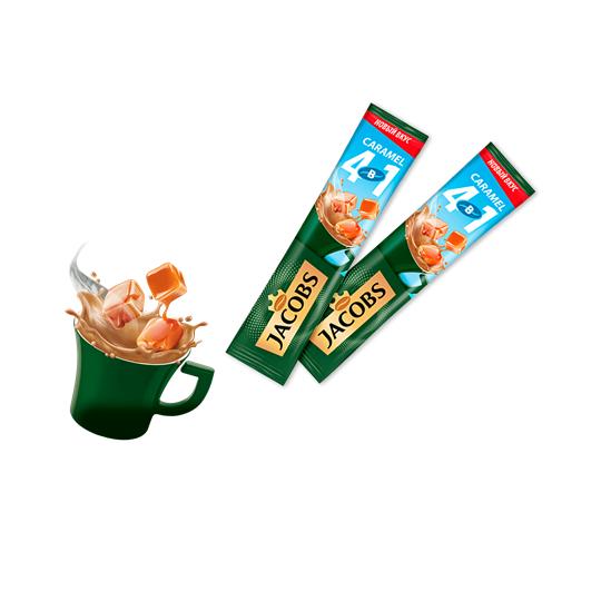 Кофе растворимый  Якобс  4 в 1 Карамель стик 15гр.