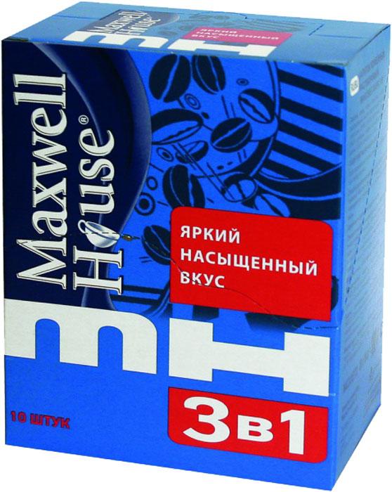 Напиток кофейный растворимый  Maxwell House  3в1 в пакетиках 15гр.