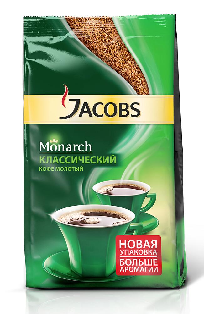Кофе жареный  Якобс  Монарх молотый 230гр.