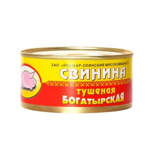 Свинина тушеная  Богатырская  №8 325гр.