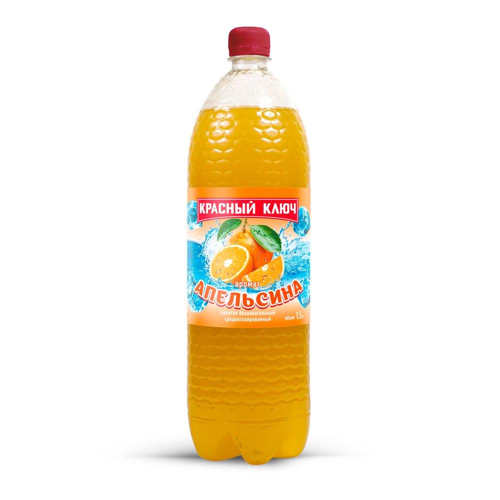 Газированная вода  Красный ключ  апельсин 1.5л.