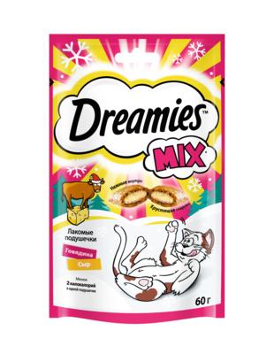 Лакомые подушечки  Dreamies  с говядиной и сыром 60гр.