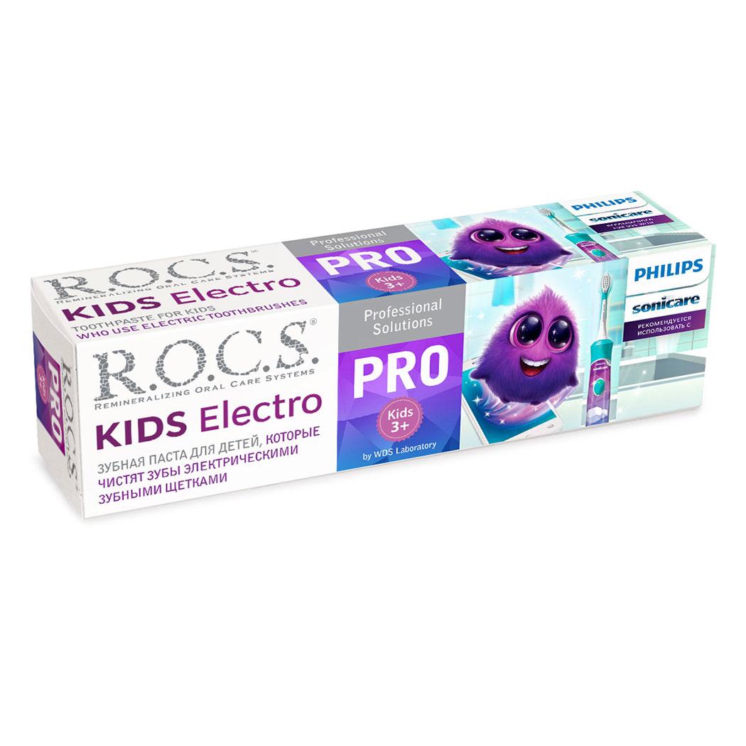 Зубная паста R.O.C.S. Кидс электро 45гр.