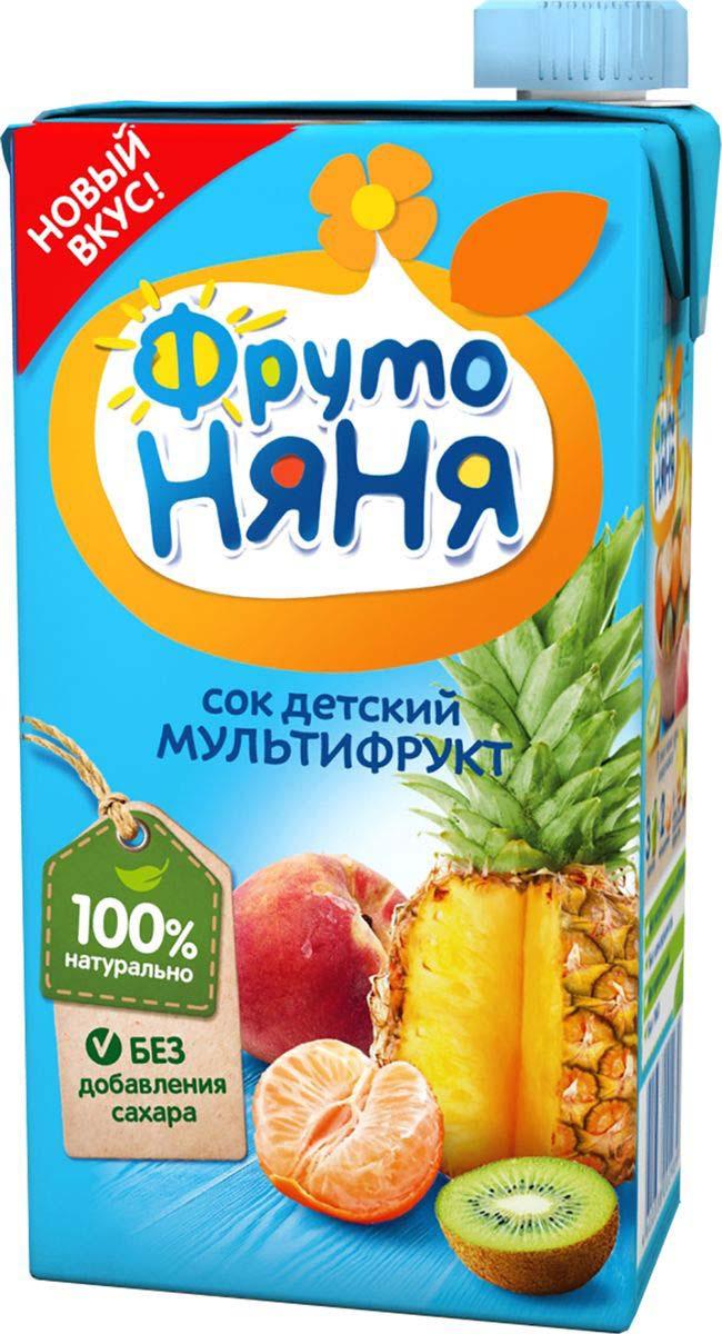 Сок  ФрутоНяня  мультифрукт 0.5л.