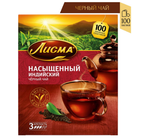 Чай  Лисма  насыщенный 100*1.8гр.