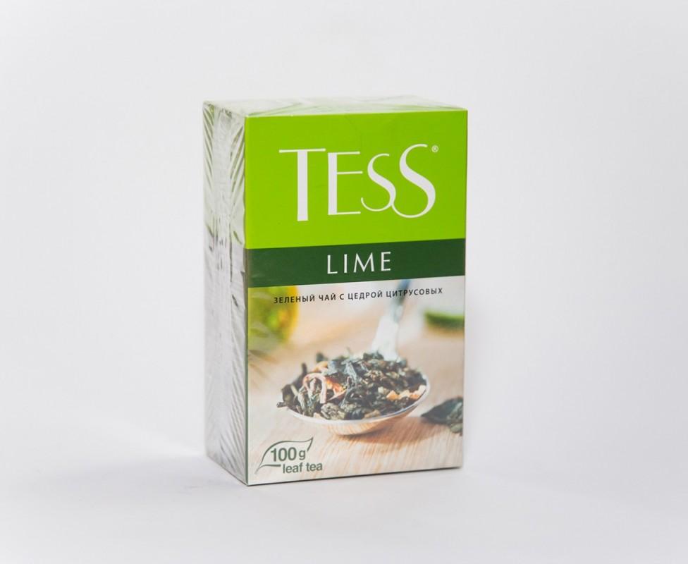 Чай  Тесс  зеленый лайм 100гр.