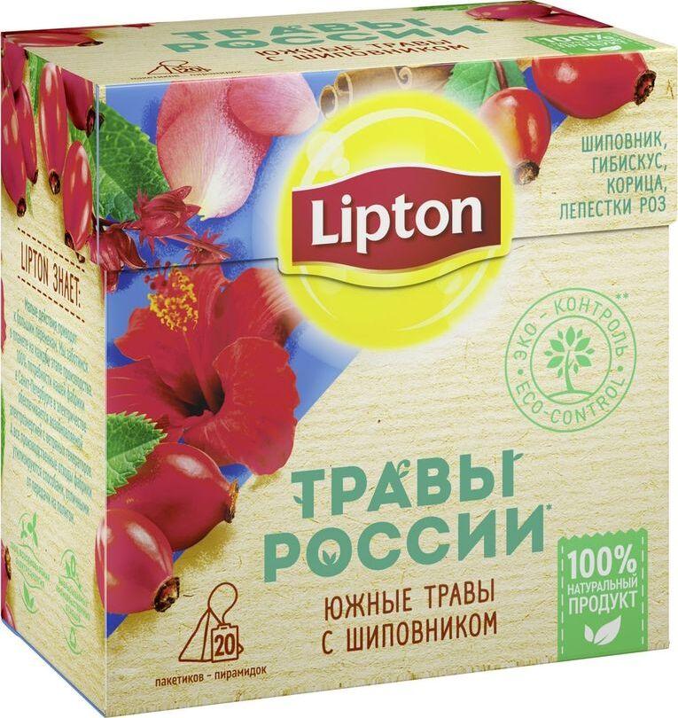 Травяной напиток  Липтон  южные травы с шиповником 20*2гр.