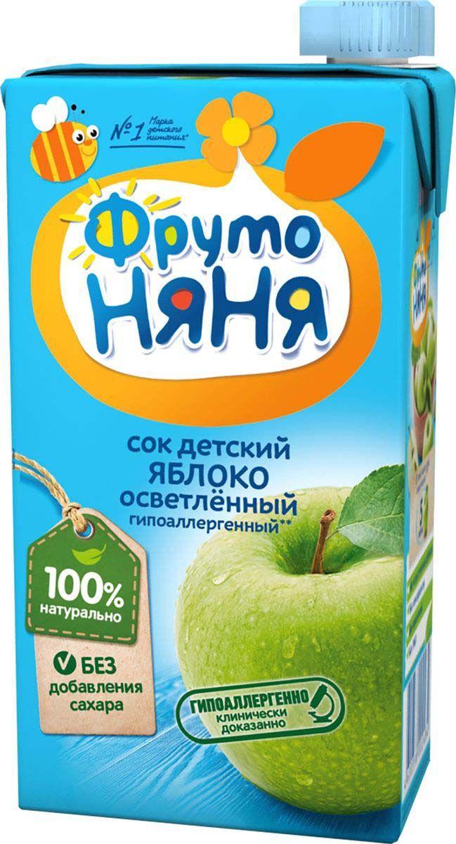 Сок яблочный осветленный  ФрутоНяня  0.5л.