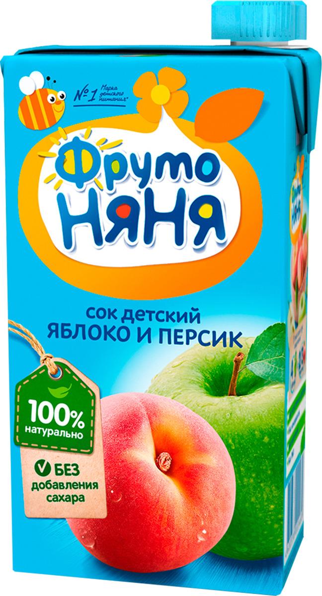 Сок  ФрутоНяня  яблочно-персиковый 0.5л.
