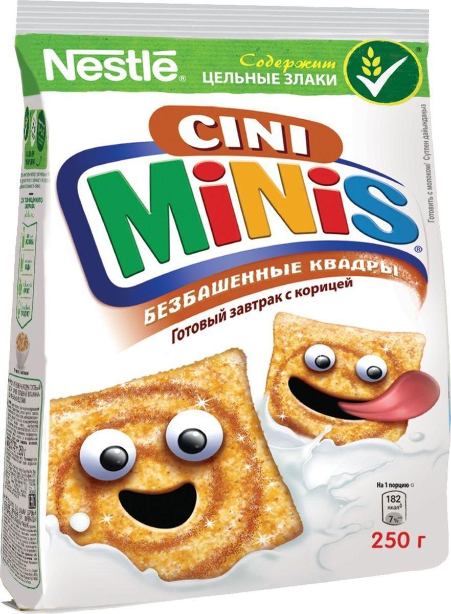Готовый завтрак  Cini Minis  пшеничные хлопья с корицей 250гр.