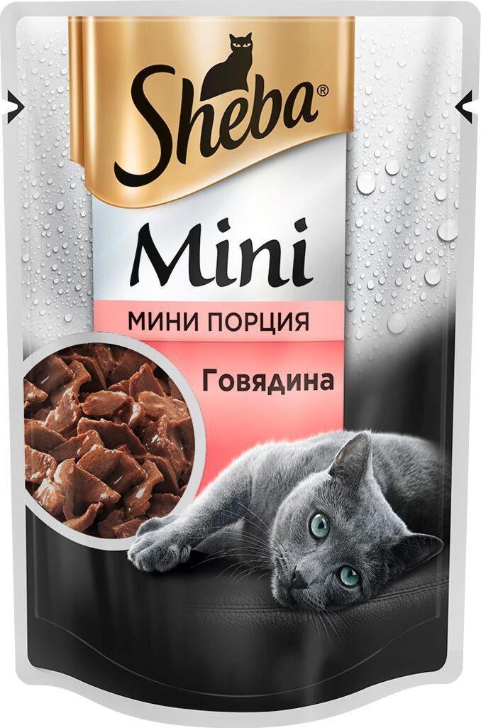 Влажный корм  Шеба  мини говядина 50гр.