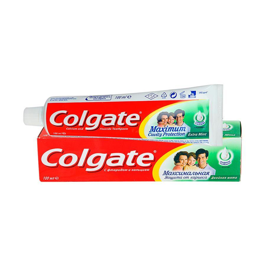 Зубная паста  Colgate  максимальная защита от кариеса двойная мята 100мл.