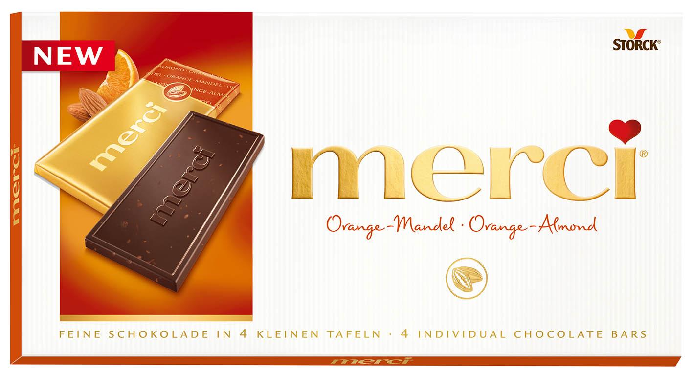 Шоколад  Мерси  апельсин 100гр.