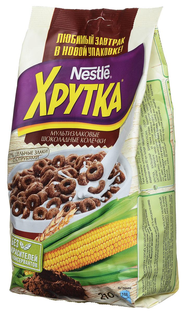 Готовый завтрак  Хрутка  шоколадные колечки 210гр.