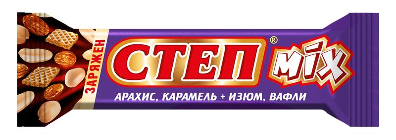 БАТОН СТЕП МИКС ВАФЕЛЬНЫЙ ГЛАЗИРОВАННЫЙ 44ГРХ20
