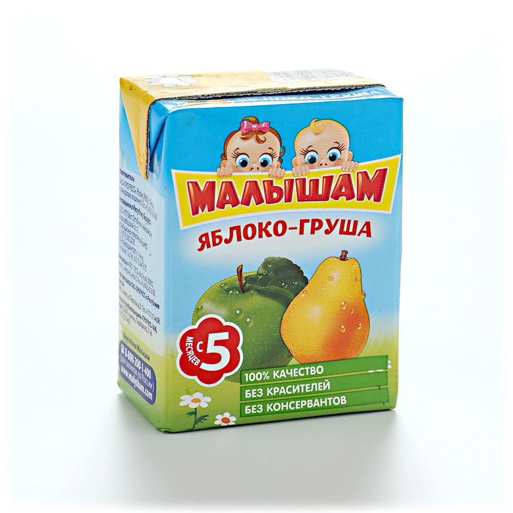 Нектар  Малышам  яблочно-грушевый 0.2л.