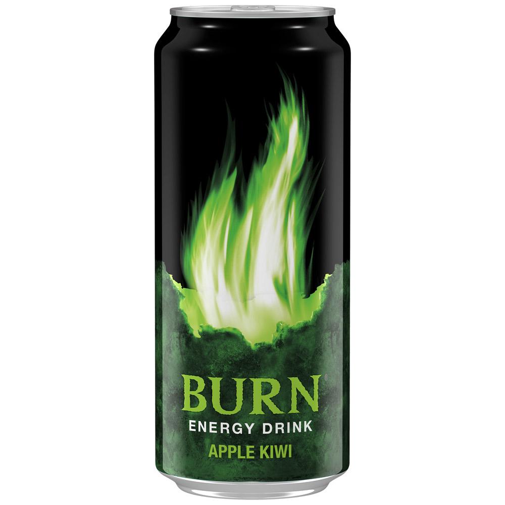 Энергетический напиток  Burn  яблоко-киви 0.449л.
